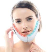 Podbródek V-line up wind pasek maszyna niebieski led foton terapii twarzy podnoszenia odchudzające masażer wibracyjny podwójny brody reduktor