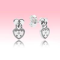 Love Heart Pendant Stud Earring Women Wedding Jewelry for Pandora 925 Sterling Silver luxury designer Earrings with Original box set