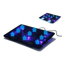 Ventola 2 USB Laptop Cooler Cooling Pad Base LED Taccuino per notebook per PC Video 10-17 pollici Pads