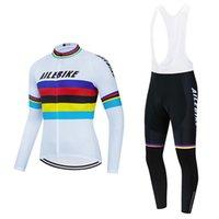 레이싱 세트 팀 Ailebike 사이클링 유니폼 세트 2021 남자 프로 의류 긴 소매 겨울 열 양털 슈트 자전거 바지 마이야 롯