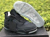 2021 صدر أسود من جلد الغزال كاو x 4 بارد رمادي الرجال أحذية كرة السلة أعلى جودة أبيض أزرق 4 ثانية رياضة رياضة أحذية رياضية في الهواء الطلق مع مربع حجم 7 ~ 12