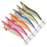 6 unids resplandor en el camarón de Drak Squid Jig Pesca Late Tackle Tackle Hooks Bait Tackle 8 10 12 15cm para para el pulpo de septil 877 Z2
