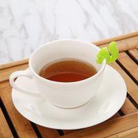Силиконовый чай Infuser Белка Устройство Чайное мешок Висит Унитра Кружка Кубок Клип Летковина Новогодняя Поставки DFF4213