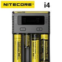 100% Original Ny I4 Digicharger Batteri Nitecore Charger för 26650 18650 18350 16340 14500 10440