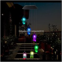 Decorations Led Solar Light Outdoor Wind Chimes Lights Romantic Wishing Bottle Starfish Windbell String Lamp For Home Garden Yard Part Emuza