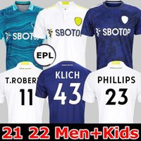 21 22 Leeds Soccer Jersey United 2021 2022 Phillips Firpo Junior Bamford Raphinha Diego Llorente Rodrigo Portero Camisa de fútbol Hombres