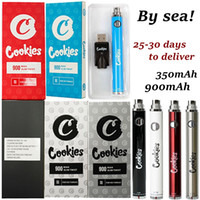 By Sea Cookies Vape Pen Battery 900mAh VV Preheat 3.3-4.8V Slim Twist 510 Thread Dab Thick Oil Cartridge Blister Packaging Bottom Spinner SS Adjustable For Atomizers Wax
