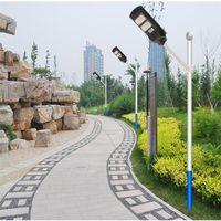 Lámpara de calle solar integrada 30W 60W 90W radar sensor de movimiento iluminación exterior IP67 luces de pared a prueba de agua