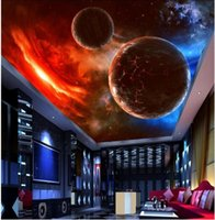 Wallpapers 3d Ceiling Murals Wallpaper Custom Po Suspended Meteorite Space Stars Home Decoration Living Room Wall