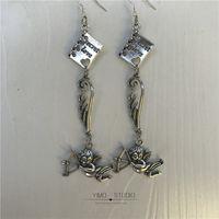 Конец один оригинальный дизайн сладкие медовые крылья wings cupid Angel 925 серебряный ухо ушной зажим