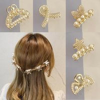 Hair Accessories Tiny Pearl Claw For Women Barrettes Rhinestone Clip Star Cat Hairpins Side Korean Gripping Girl