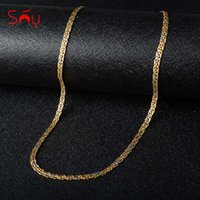 Sunny Jewelry Fashion 750 Copper Link Necklaces Chains Women Man High Quality Classic Trendy For Daily Wear Gift Anniversary