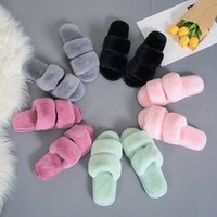 Pantofole Donne Casa da interno Peluche Soft Cute Cotton Pytchers Shoes Shoes Slip Pavimento Casa Donne Diapositive per camera da letto N6v9 #