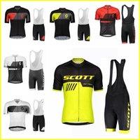 Atmungsaktive Scott Team Sommer Herren Radfahren Kurzarm Jersey BIB Shorts Sets ROPA CICLISMO 3D Gel Pad BIB Shorts Set 417067