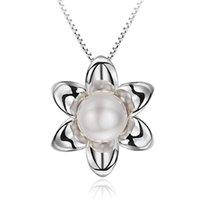 8mm Sterling zilveren sleutelbeen ketting zonnebloem parel hanger vrouwelijke natuurlijke zoetwater parels bruiloft sieraden S925 jubileum geschenk