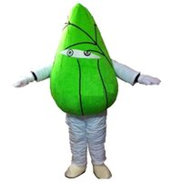 Professional Green Dumplings Mascot Costume Halloween Christmas Fancy Party Dress Cartoon Character Suit Carnival Unisex Adults Outfit