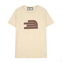 Футболки для мужчин для мужчин Хлопковая футболка с круглым вырезом Двойная резьба весна лето 20ss буква высокая улица свободная тенденция с коротким рукавом мужская одежда