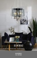 Pendant Lamps Crystal Dining Room Chandelier Home Simple Post-modern Light Luxury Meal Round Table Glass