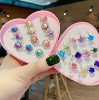 Crystal Princess Bague Enfants Doigtes Annières Fête Costume Anniversaire Faveurs cadeaux Fournitures Cluster