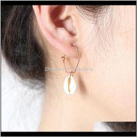 Hoop & Hie Drop Delivery 2021 Women Bohemia Natural Sea Shell Big Circle Round Loop Geometric Pendant Dangle Earrings Jewelry 4Ii68