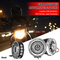 Player Audio System Motorcycle Electronic Accessory Portable Bluetooth Sound Speakers FM Radio MP3 Car Dvd