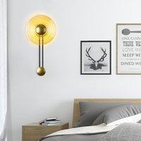 Nordic Post-Modern Light Luxury Wall Lamp Led Golden El Aisle Corridor Atmospheric Living Room Background