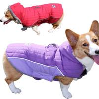 Winter Dog Hoodie Big Jacket Coat Golden Husky Windbreaker Pet Fleece Vest Detachable Cap For Small Medium Large Dogs XS 3XL Apparel