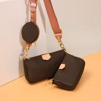 Classic Luxurys дизайнеры сумка три чашки в одном модном дизайне монеты кошелек дамы 3 шт. Crossbody сумки 2021 бренд мессенджер