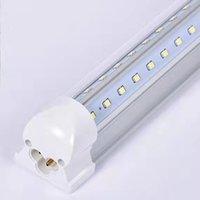 T8 LED Shop Light 8ft 72W 9000LM 5000K Runder مجلس الوزراء أنبوب أنبوب مرآب Warrbench Electric مع جهاز التحكم المدمج في / إيقاف (حزمة من 10)