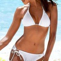 نووتون رفع الصلبة بيكيني مجموعة ملابس النساء مثير الدانتيل شاطئ البرازيلي ملابس السباحة منخفضة الخصر المايوه المرأة