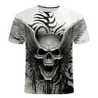 2021New Design T Shirt Hombres / Mujeres Heavy Metal Grim Reaper Skull 3D Impreso Camisetas Casual Harajuku Estilo Tshirt Streetwear Tops