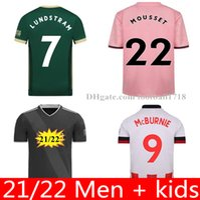 2021 2022 Шеффилд Футбол Джетки Berge Barge Baldock McGoldrick Mousset Mcburnie Lundstram Fluk Norwood Sharp Men Kits Kits Футбольная рубашка