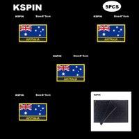 مستطيل العلم الوطني التصحيح هوك حلقة أستراليا شارات شارات شارة 3d عصا على سترة الظهر ملصقات