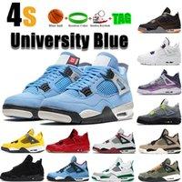 2019 criados 4 tênis de basquete sneakers men mens trovão Cimento Branco Puro Dinheiro Bred Royalty Jogo Royal 4s Sports shoes EUA 7-13