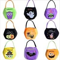 Halloween Pumpkin Handbags Printed Cartoon Satchel Bags Cat Kids Candy Storage Gift Bag Fashion Child Halloween Sack Party Supplies DYP6242