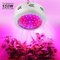 مصباح متزايد 150W ufo LED ينمو الضوء الكامل الطيف 50 المصابيح fitolamp تنمو مربع ل حديقة المائية حديقة الدفيئة الداخلية