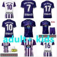 2021 2022 Real Valladolid Futebol Jerseys Sanchez Ramirez 21 22 22 Guardiola Plano Man Kit Kit Sets Terno Camisa de Futebol Meninos Camiseta de Futbol