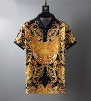 Летняя дизайнерская роскошная одежда для мужчин Polo Classic Style Red Geen Pachwork шеи футболка повседневный поворотный воротник футболка Tee T Shirtsm-3XL