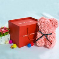Rose Bear Teddy And Necklace Card Gift Box Set For Anniversary Birthdays Bridal Showers Mother's Day B1 Wrap