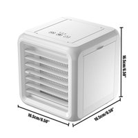 Electric Fans Mini Portable Air Conditioner 7 Colors Light Humidifier Purifier USB Desktop Cooler Fan With 2 Water Tanks For Office Room