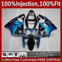 Инъекционные формы Bodys для Kawasaki Ninja 600CC Blue Glossy ZZR600 05 06 07 08 Codework 38Hc.132 100% Fit ZZR-600 600 CC 05-08 ZZR 600 2005 2006 2007 2008 2008