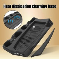 Vertical Stand With Cooling Fan For PS5 Console Charging Station Dock Dual Controller Charger And System JHP- Laptop Pads