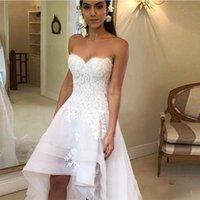2021 Brautkleider Schatz Applikationen High Low Country Hochzeitskleid Brautkleid Robe Mariage Vestido de Novia