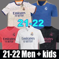 Real Madrid Trikots 21 22 Fußball Trikot HAZARD GEFAHR SERGIO RAMOS BENZEMA camiseta 2021 2022 VINICIUS JR. Fußball-Trikot Uniformen Männer + Kinder Kit