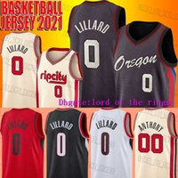 Portlands Ripcity Damian 0 Lillard Jersey Basketbol Carmelo 00 Anthony Formalar 2021 Şehir Üniforması