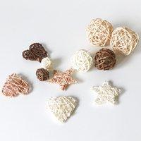 Rattan palla di vimini sfere rustiche palle per fatti a mano natale di nozze festa di casa festa fai da te decorazioni per bambini pet giocattoli tavola vaso filler 1255 v2