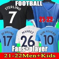 2021 مانشستر كيرز جيرسي 20 21 ج. جيسس سيتي ستيرلينغ فيران دي بروين كون أجويرو لكرة القدم القمصان رجل موحدة الرجال عدة