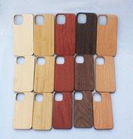 Для iPhone 12 Max Bamboo Case Case 11 Pro 7 8 Plus X XR пользовательские деревянные крышки с уставкой ультра тонкие деревянные чехлы