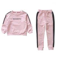 Conjuntos de ropa Ropa de invierno para niños Bebé Muchacho Trajes de dibujos animados lindo Puppy Imprimir Cálido suéter chicas niños1