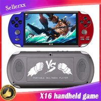 X16 8G Portable Game Console 6.5 inch Large Screen Video Music E-book for GBA FC NES Arcade Games Players Handheld Retro HDTV Gaming Box X12